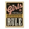 Americanflat Girls Rule Typography