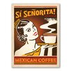 Americanflat Sisenorita Vintage Advertisement Wrapped on Canvas