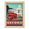Americanflat Asa Oxford Vintage Advertisement Wrapped on Canvas