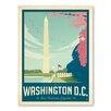 Americanflat Leinwandbild Asa Washington DC 1003, Retro-Werbung