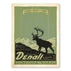 Americanflat Asa National Park Denali Vintage Advertisement Wrapped on Canvas