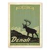 Americanflat Leinwandbild Asa National Park Denali, Retro-Werbung