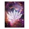 Americanflat Galaxy Lotus Graphic Art on Canvas