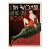 Americanflat Leinwandbild Asa I Am Woman Napa, Retro-Werbung