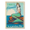 Americanflat Mermaid Queen Vintage Advertisement Wrapped on Canvas