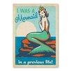 Americanflat Poster Mermaid Queen, Retro-Werbung
