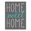 Americanflat Leinwandbild Home Sweet Home, Typografische Kunst