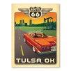 Americanflat Leinwandbild Asa Tulsa Route 66, Retro-Werbung