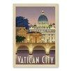 Americanflat Leinwandbild Vatican City, Retro-Werbung