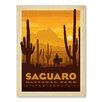 Americanflat Asa National Park Saguaro Vintage Advertisement Wrapped on Canvas