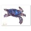 Americanflat 'Tortoise Dark Blue' by Suren Nersisyan Art Print Wrapped on Canvas