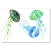 Americanflat 'Jellyfishes' by Suren Nersisyan Painting Print on Wrapped Canvas