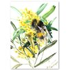 Americanflat Flower Bee II' by Suren Nersisyan Graphic Art Wrapped on Canvas