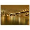 Americanflat Leinwandbild Bridge Night 2, Fotodruck von Lina Kremsdorf