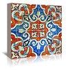 """Americanflat Leinwandbild """"Gaudi Mosaic Orange and Blue"""" von Graffi Tee Studios, Grafikdruck"""