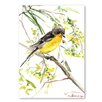 Americanflat 'Goldfinch IV' by Suren Nersisyan Graphic Art on Wrapped Canvas
