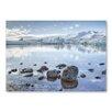 "Americanflat Leinwandbild ""Lake Snow"" von Lina Kremsdorf, Fotodruck"