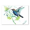 Americanflat 'Hummingbird One of a Kind' by Suren Nersisyan Painting Print on Wrapped Canvas