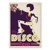 Americanflat Leinwandbild Disco, Grafikdruck von Music Festival