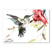 Americanflat 'Whimsical Hummingbird' by Suren Nersisyan Art Print Wrapped on Canvas