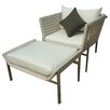 outside/in Twin Palms Chair and Ottoman