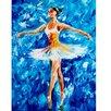 yourPainting Leinwandbild Ballerine Bleu, Kunstdruck