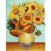 """yourPainting Leinwandbild """"Sonnenblumen"""" von Vincent Van Gogh, Kunstdruck"""