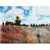 yourPainting yourPainting classic art Field of Poppies Near Argenteuil by Claude Monet Original Painting on Canvas