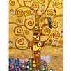 "yourPainting Leinwandbild ""The Tree of Life"" von Gustav Klimt, Kunstdruck"
