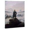 "yourPainting Leinwandbild ""Der Wanderer über dem Nebelmeer"", Originalgemälde"