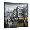 yourPainting Schwarzweißes Paris Original Painting on Canvas