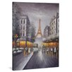 yourPainting Erleuchtetes Paris Original Painting on Canvas