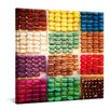 yourPainting Bunte Macarons Original Painting on Canvas
