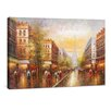 yourPainting Pariser Herbstgold Original Painting on Canvas