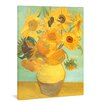 yourPainting Vase with Twelve Sunflowers by Vincent Van Gogh Original Painting on Canvas