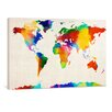 yourPainting World Map Sponge Painting by Michael Tompsett Original Painting on Canvas
