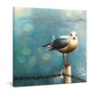 yourPainting Seagull in Winter by Friederike Alexander Original Painting on Canvas