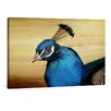 yourPainting Blauer Pfau by Angela Dölling Original Painting on Canvas
