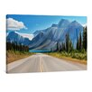 "yourPainting Leinwandbild ""Road to Bow Lake"", Originalgemälde"