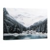 "yourPainting Leinwandbild ""White Mountains"", Originalgemälde"