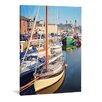 yourPainting Sonniger Hafen Original Painting on Canvas