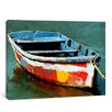 yourPainting Lonely Boat Original Painting on Canvas
