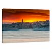 yourPainting Sunset over Istanbul Original Painting on Canvas