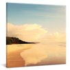 yourPainting Pristine Waterfront Original Painting on Canvas