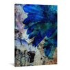 yourPainting Blaue Astern by Kay Weber Original Painting on Canvas