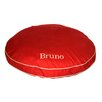 Carolina Pet Company Twill Classic Round Pet Bed in Red with Khaki Cording