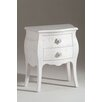 Castagnetti 2 Drawer Bedside Table