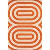 Thomas Paul Tufted Pile Orange Geometric Rug
