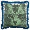 "Thomas Paul Cat 18"" Linen Throw Pillow"