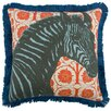 "Thomas Paul Zebra 18"" Linen Throw Pillow"